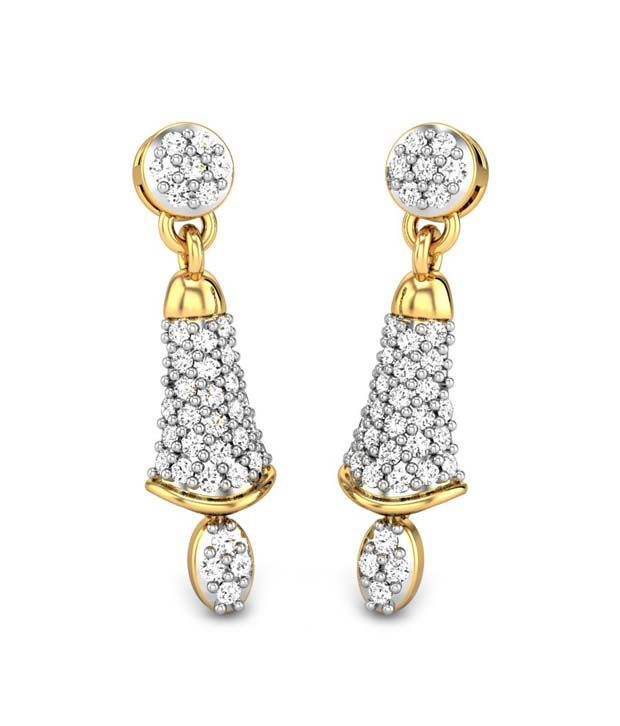 Candere Christiana Diamond Earring Yellow Gold 14K