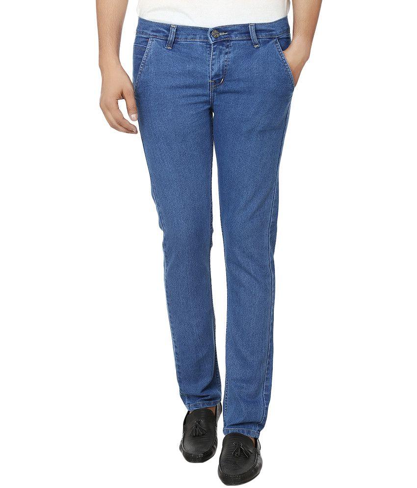 Club Vintage Lycra Stretchable Blue Jeans