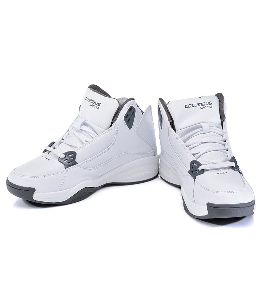 Columbus Recharge White Sport Shoes
