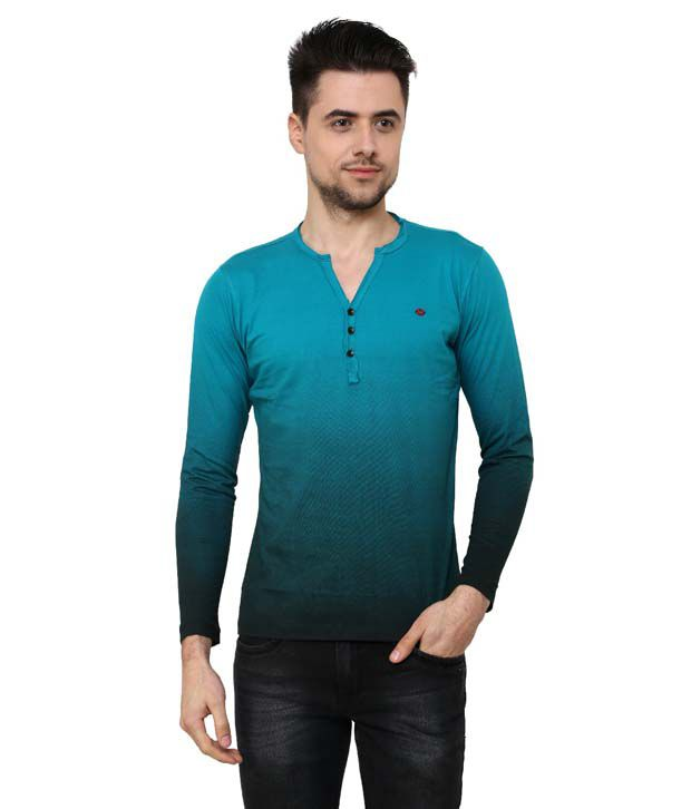 Wear Your Mind Long Sleeve P.Green Henley