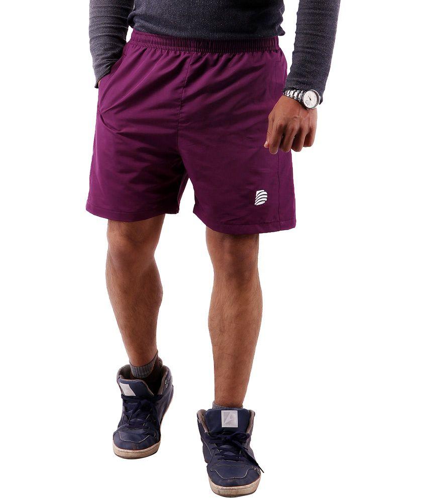 Dress.com Purple Cotton Shorts