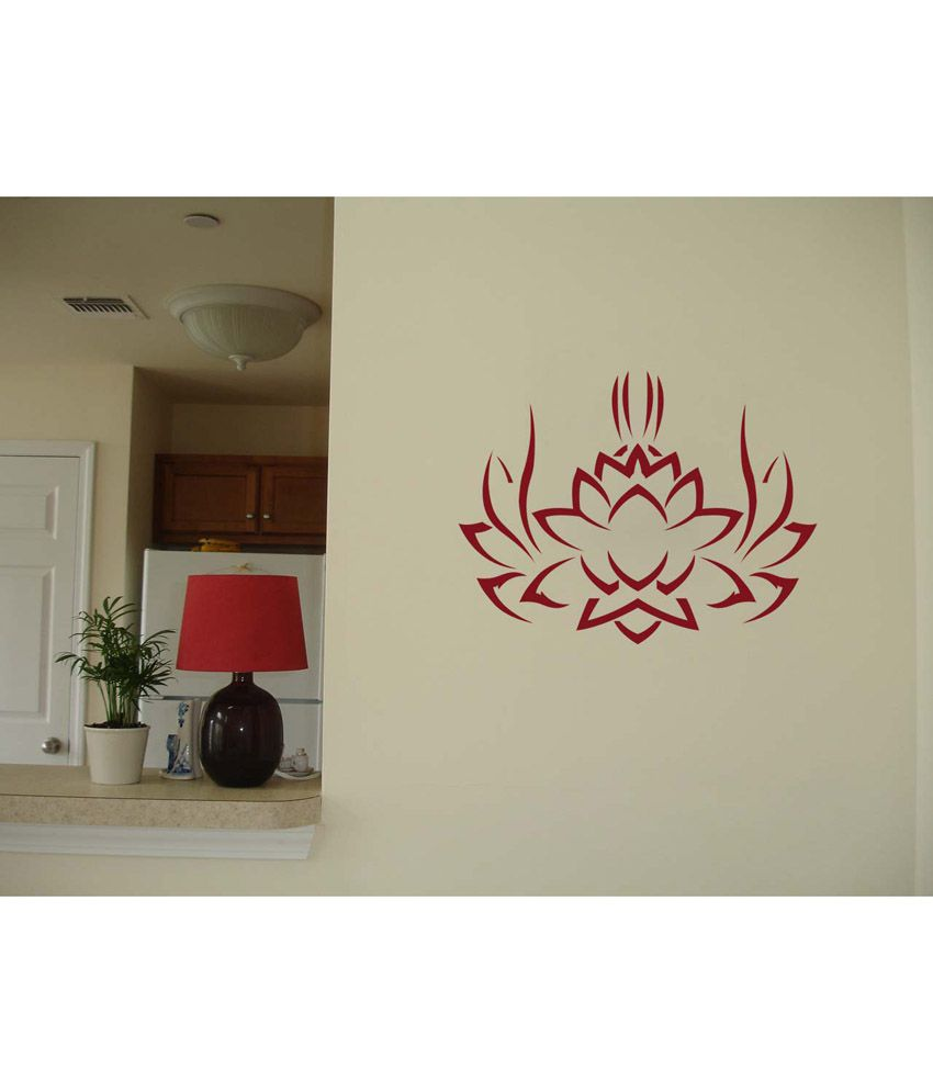 WallDesign Tribal Lotus MaroonCrayola Wall Sticker