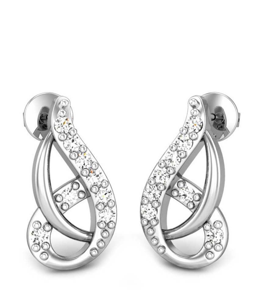 Candere Molly Diamond Earring White Gold 18K