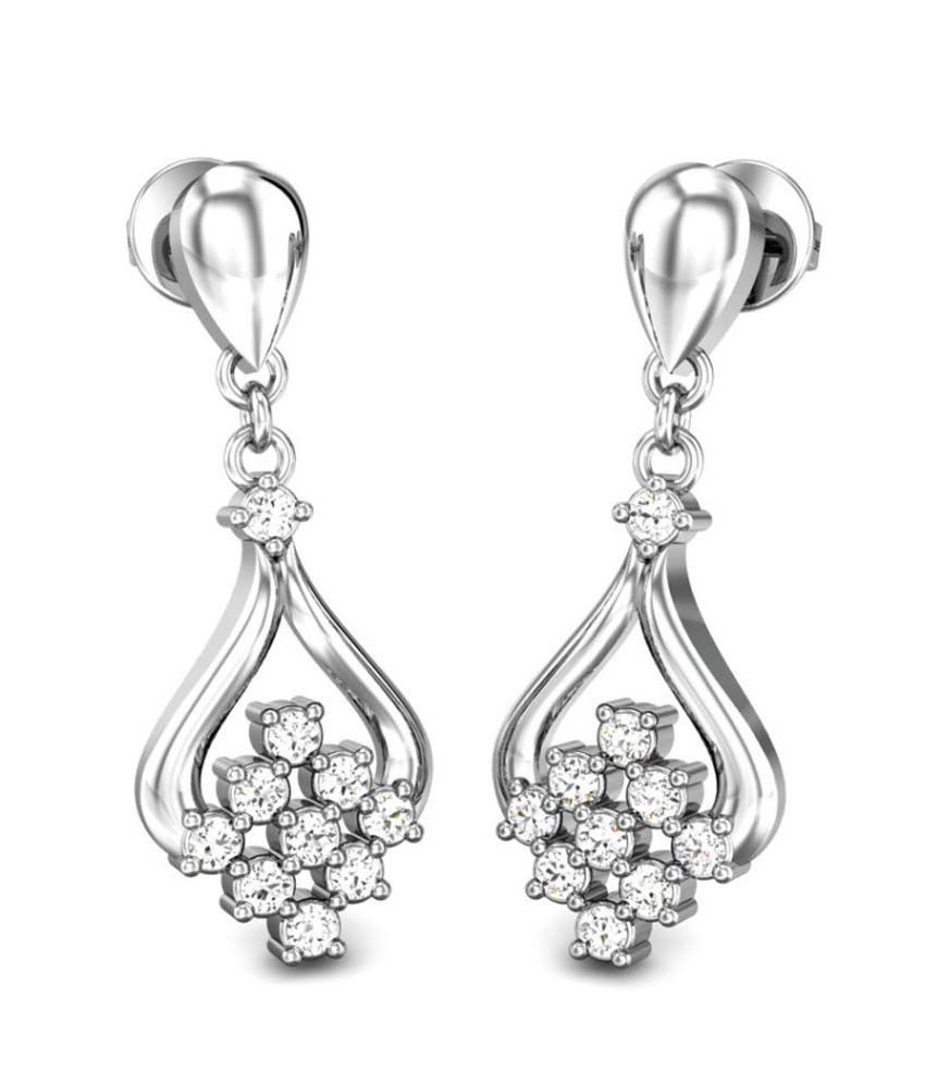 Candere Rachna Diamond Earring White Gold 18K