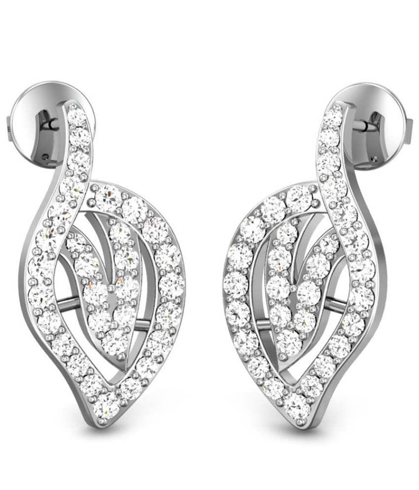 Candere Neelam Diamond Earring White Gold 18K