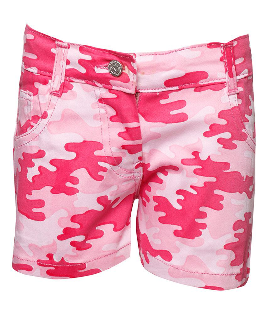 Joshua Tree Urban Traveller Pink Camouflage Printed Shorts