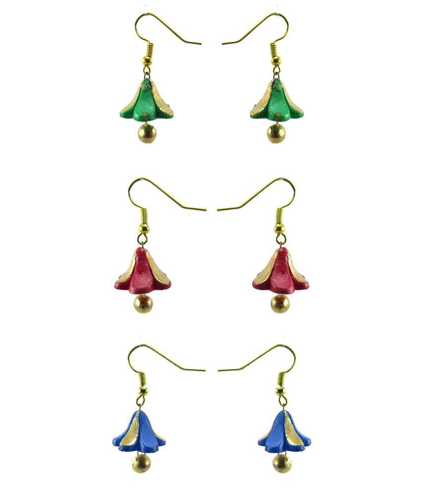 Chhayamoy Terracotta Earrings Pair Set
