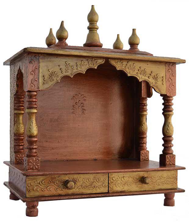 Jodhpur Handicrafts Brown Wood Hanging Mandir: Buy Jodhpur