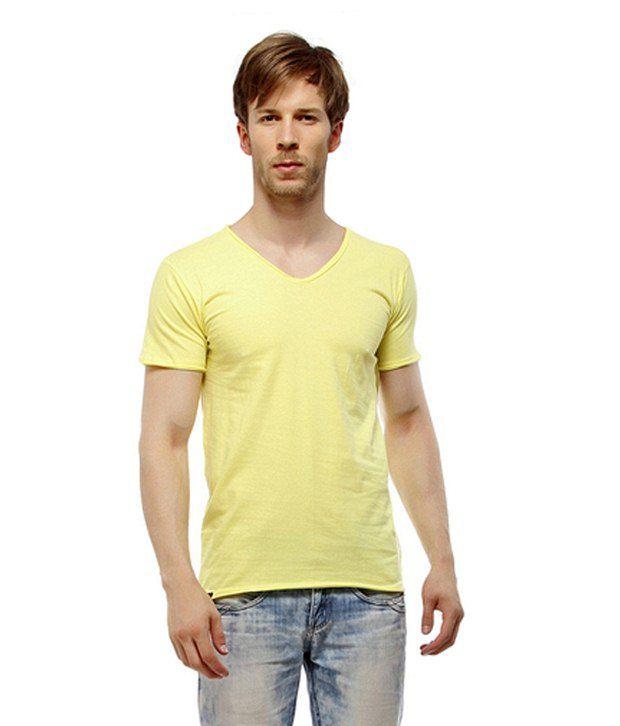MY Yellow Cotton T Shirt
