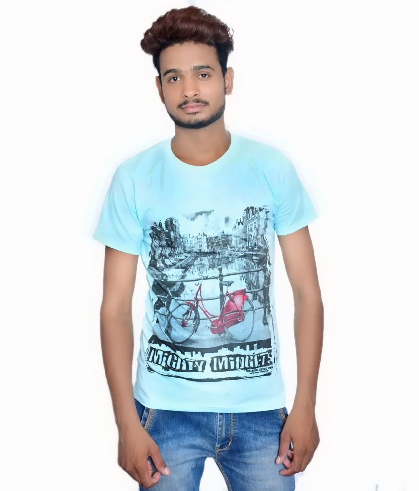 ... Blend Round Neck Printed T-shirt Online at Low Price - Snapdeal.com