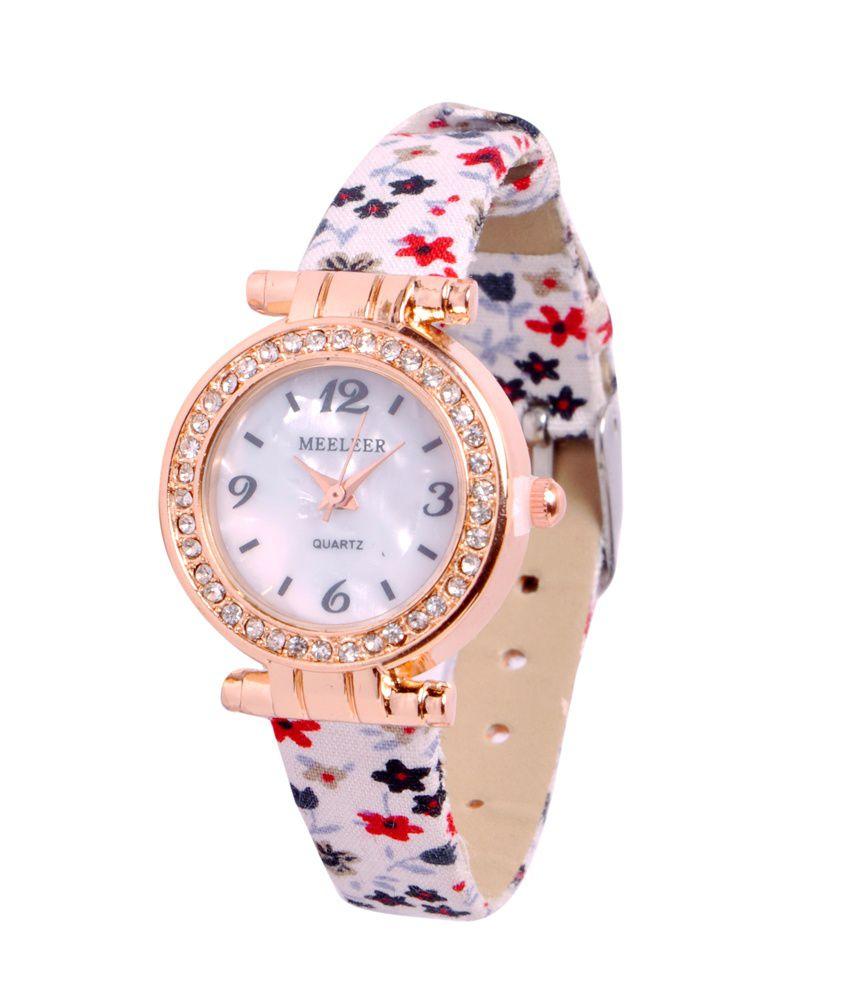 Indian Heritage Meeleer Designer Floral Women\'S/Ladies Wrist Watch ...