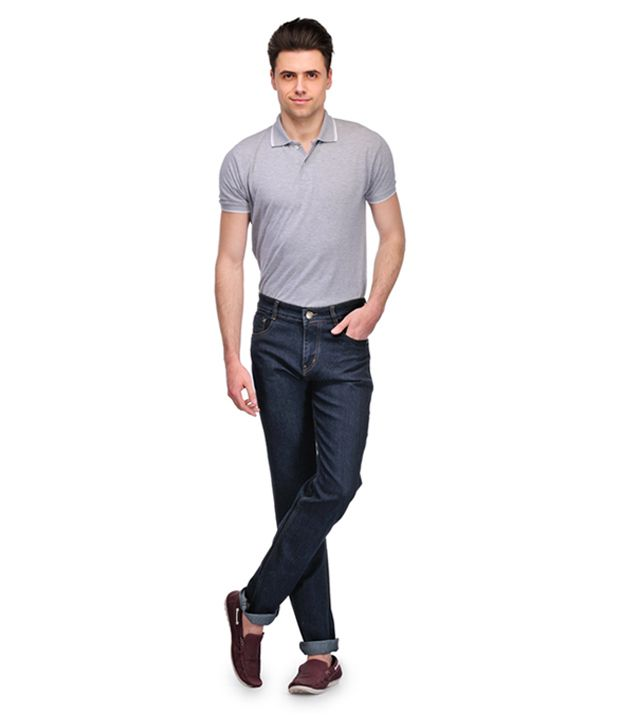 Frankline Black cotton Blend Jeans