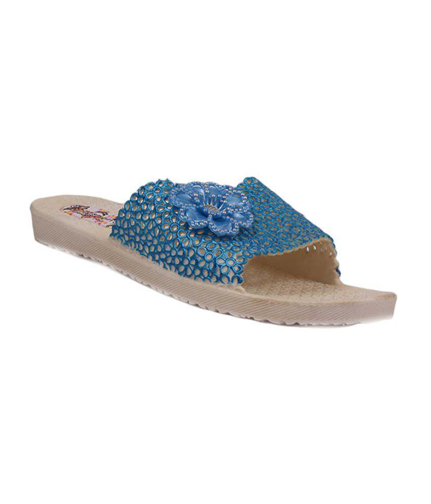 Aalishan Blue Flat Eva Flip Flops