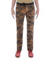 Urban Navy Camouflage Print Strech Cargo Pants