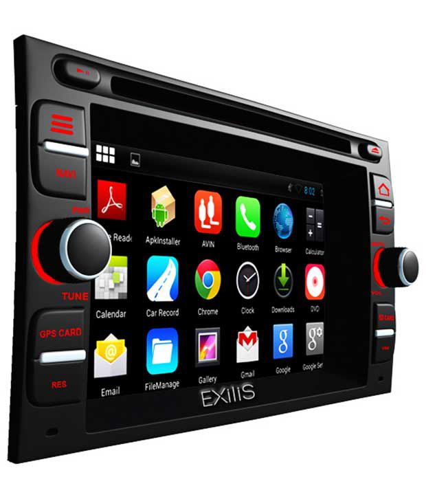 Exilis DroidET Android Based Double Din Car Stereo System