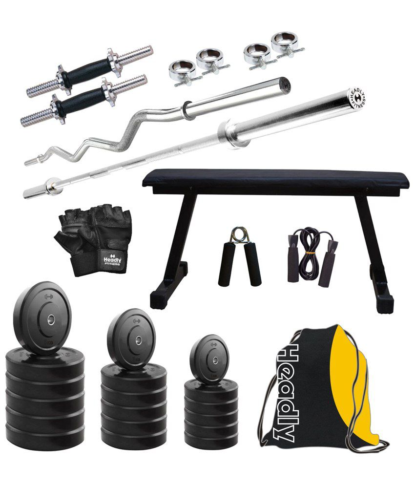 7bb5b7db964 Headly 40 Kg Home Gym Set With 2 Rods
