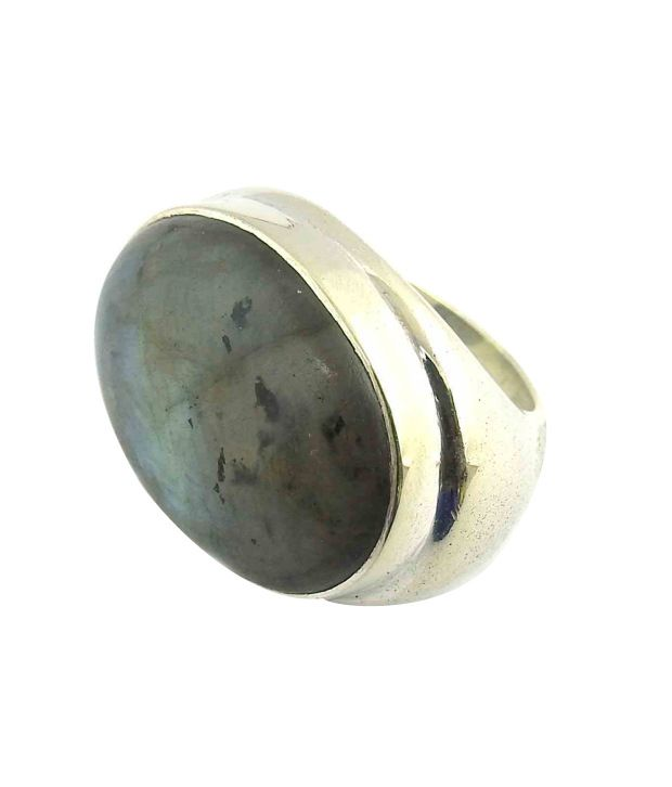 Miskasilver Designer Pure German Silver & Gemstone Ring