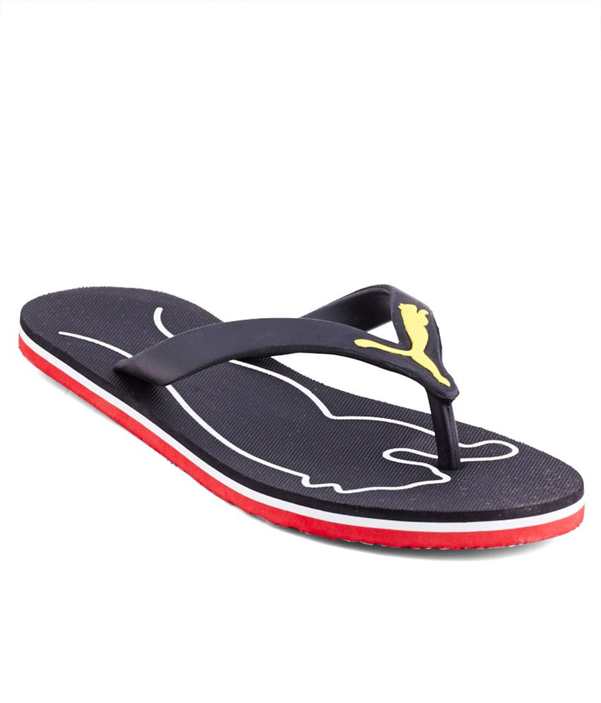 603a98637fb194 Puma Luca Men S Dp Black Flip Flops Price in India- Buy Puma Luca Men S Dp  Black Flip Flops Online at Snapdeal