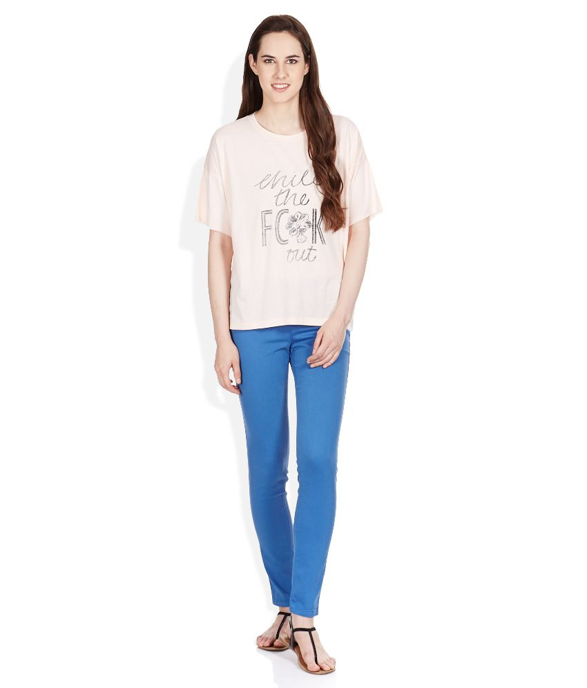 Buy FCUK Pink Cotton Blend Tees Online at Best Prices in India ... 677d875fb