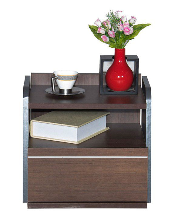 Stylespa Gush Bedside Table Honey Brown Finish