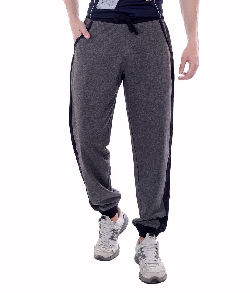 French Twins Black Blend Elasticated Running Trackpant