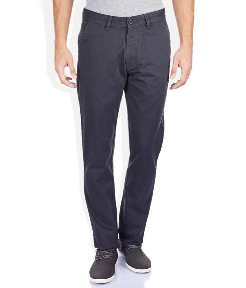 Izod Gray Tapered Fit Trousers
