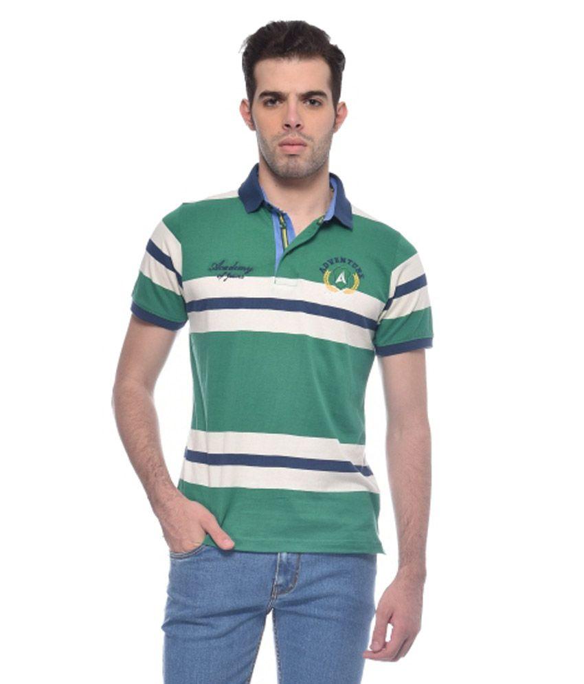 Adventure Green Cotton Blend T Shirt