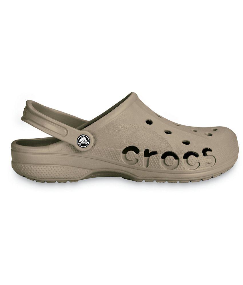 519646cdf50 Crocs Khaki Roomy Fit Clogs - Buy Crocs Khaki Roomy Fit Clogs Online ...