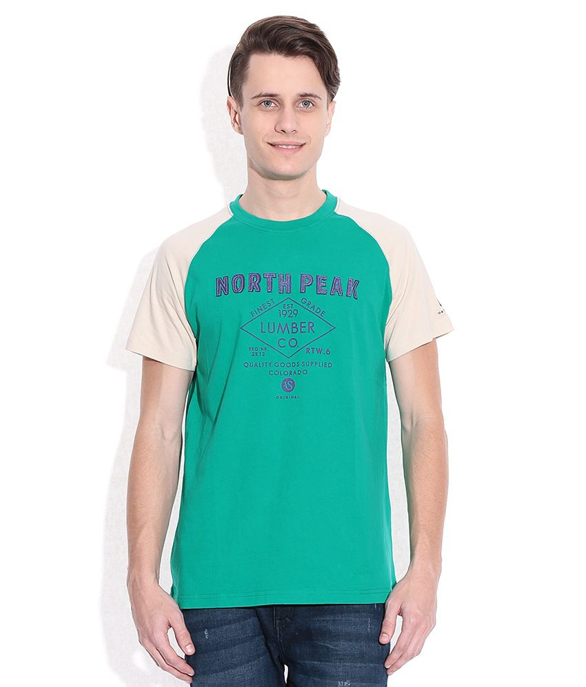 American Swan Green Round Neck T-Shirt