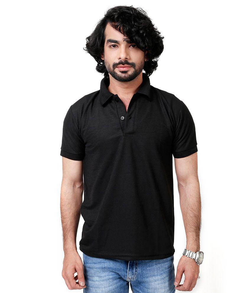 Elligator Black Blend Polos Sports Wear For Men