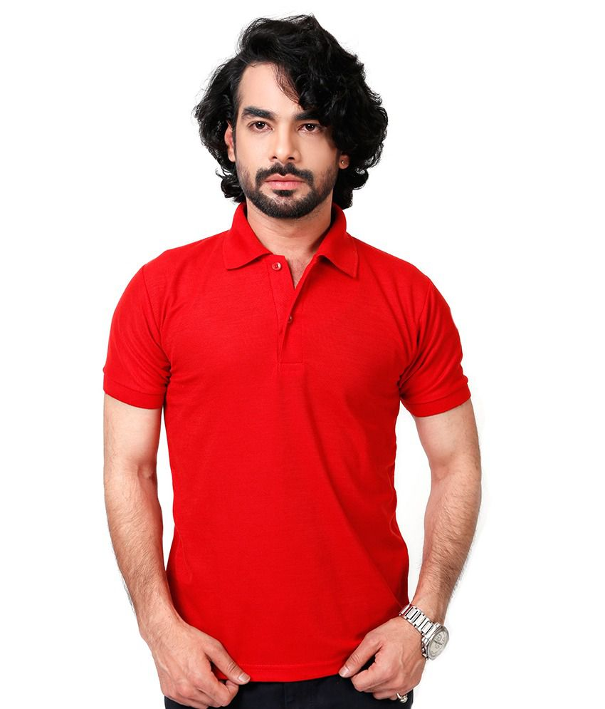 Elligator Red Blend Polos Sports Wear For Men