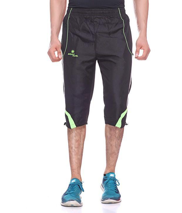 Sport Sun Black Micro Active Shorts