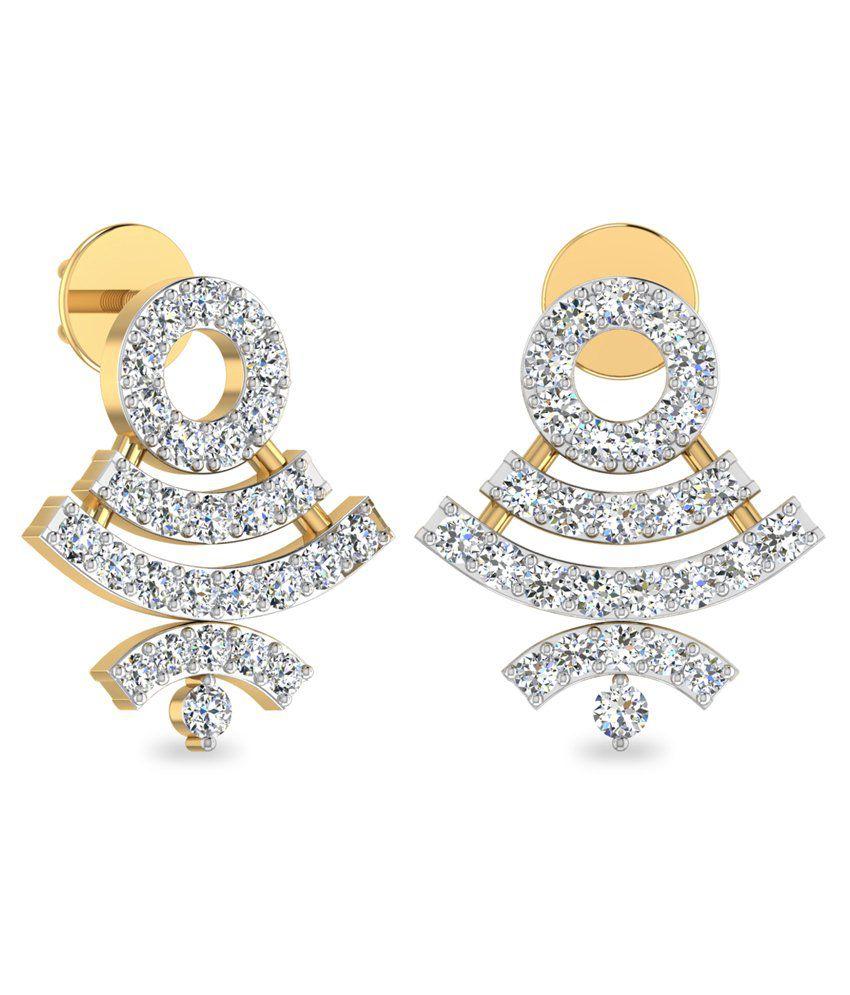 WearYourShine PC Jeweller 18KT Gold The Annisha Diamond Earrings