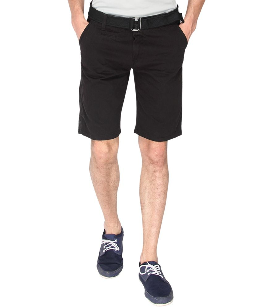 Campus Sutra Blue Cotton Shorts