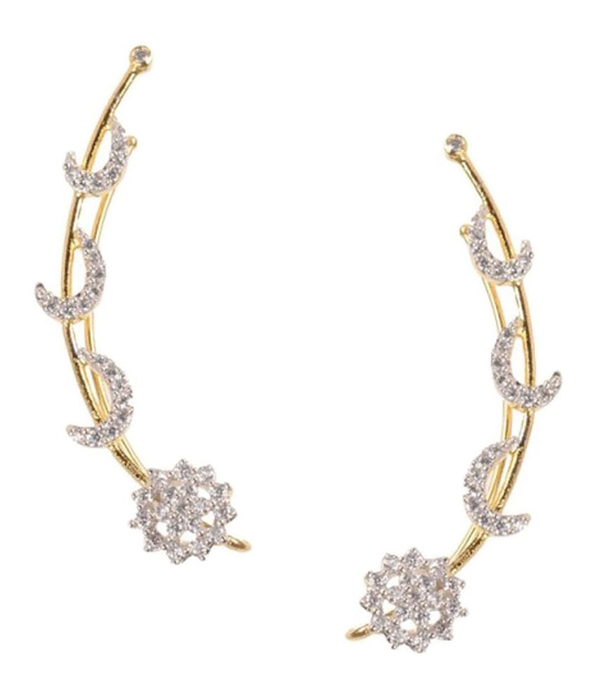 Jewels Galaxy Stunning Circular Earcuff (2 Piece)