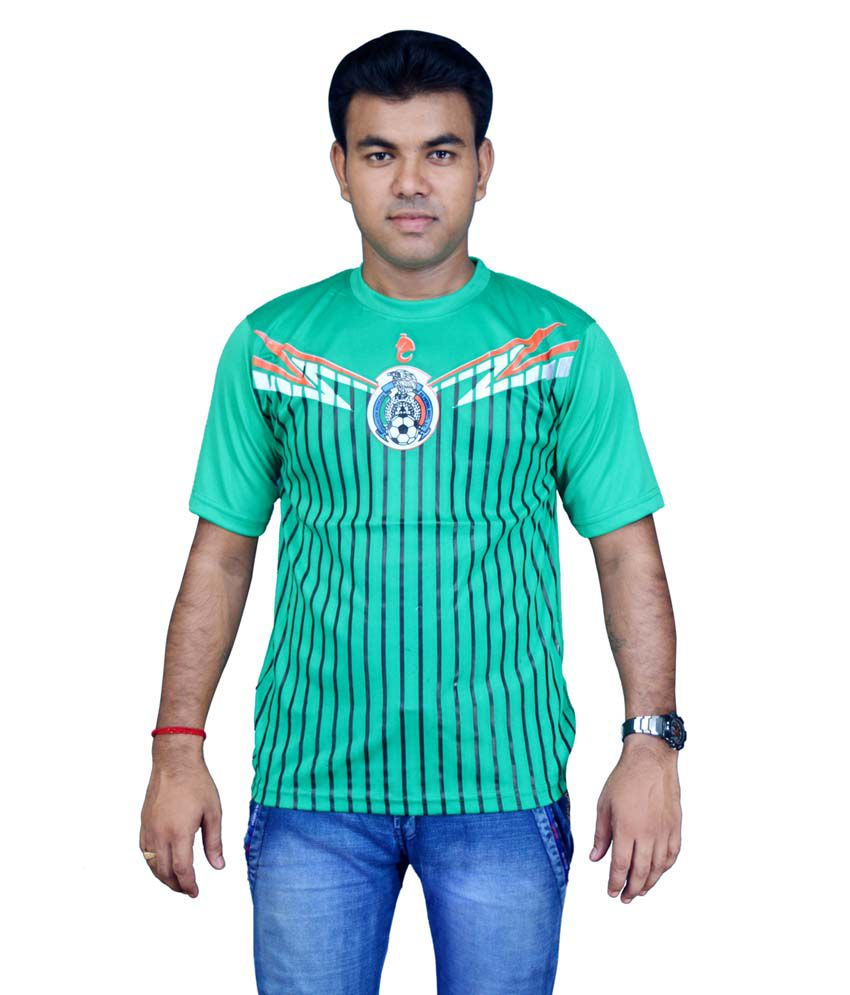 Bloomun Green Maxico Foot Ball Club Supporter Jersey (Size 36 inch)