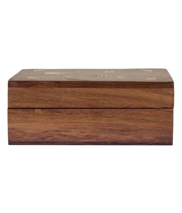 MCT Shisham Wooden Designer Jewellery Box