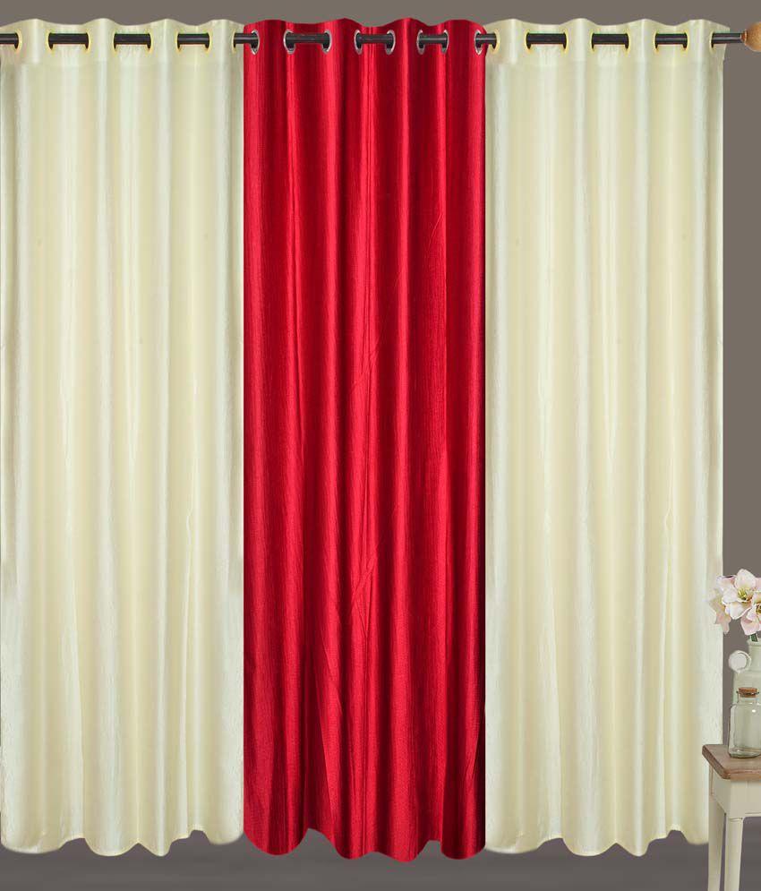 Fresh From Loom Set of 3 Door Eyelet Curtains