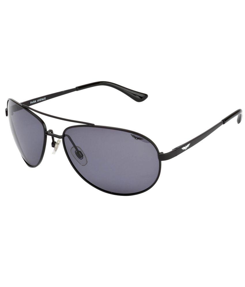 Park Avenue Black Aviator Polarized Sunglasses PA-7076-01