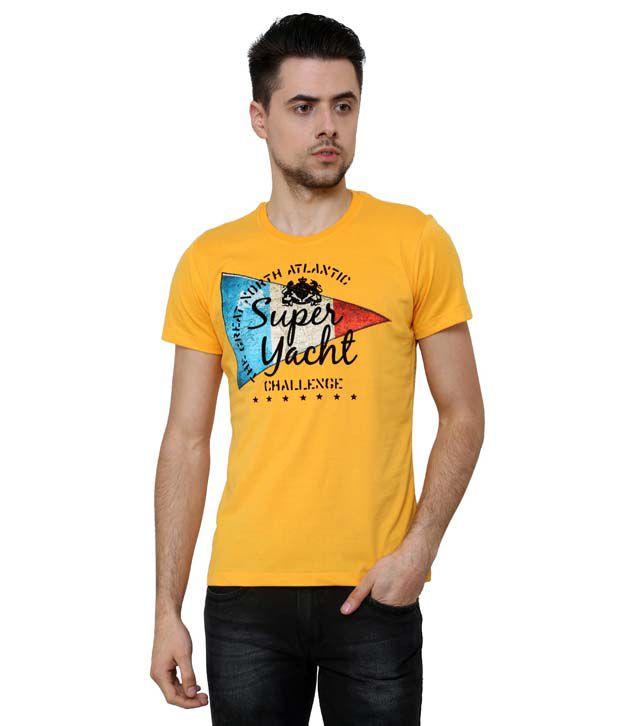 Wear Your Mind Short Sleeve Yellow Mens Tshirt
