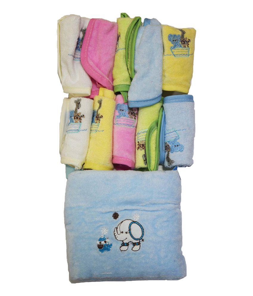 Maison Super Belle belle maison baby super soft cotton towel + baby napkin + bib set 5+