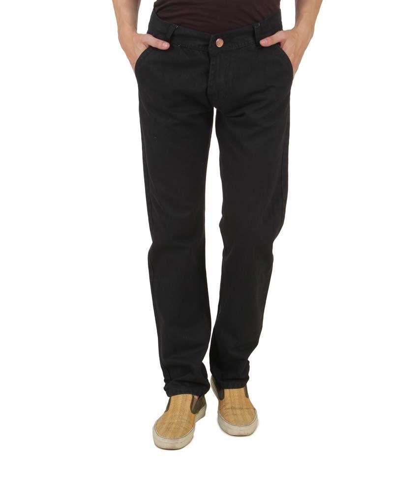 Group Collections Black Cotton Blend Men Jeans
