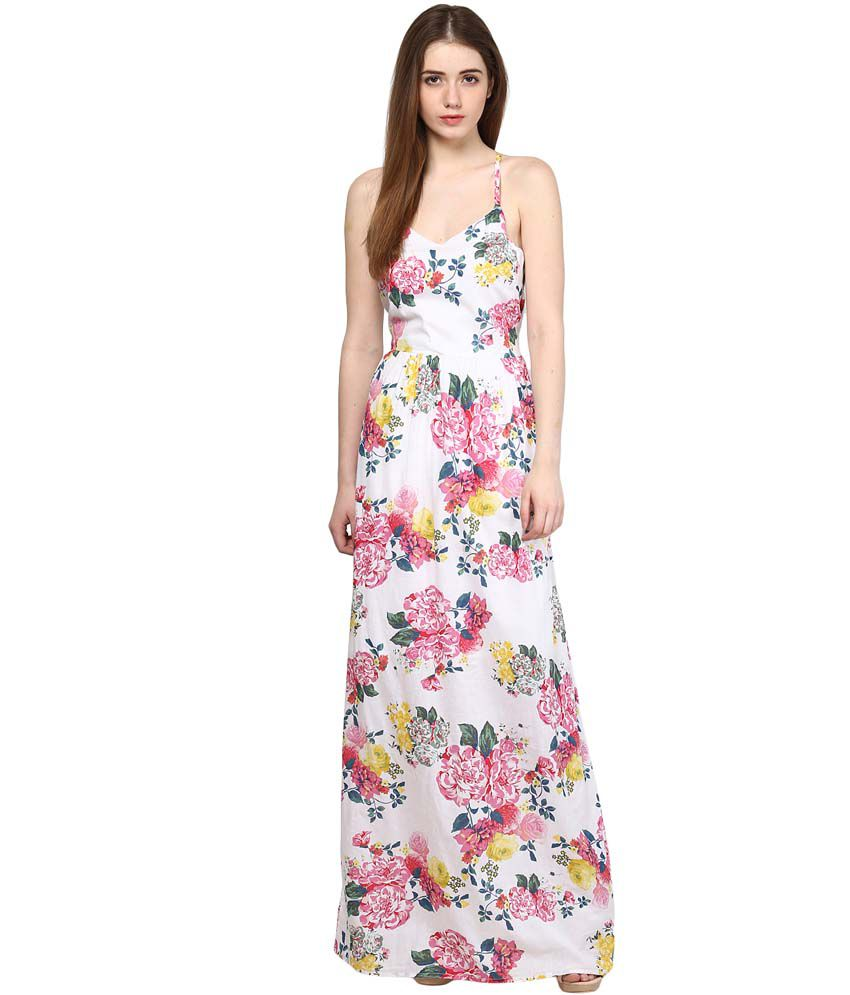 626b252ccf4 Harpa White Cotton Maxi Dress - Buy Harpa White Cotton Maxi Dress Online at Best  Prices in India on Snapdeal