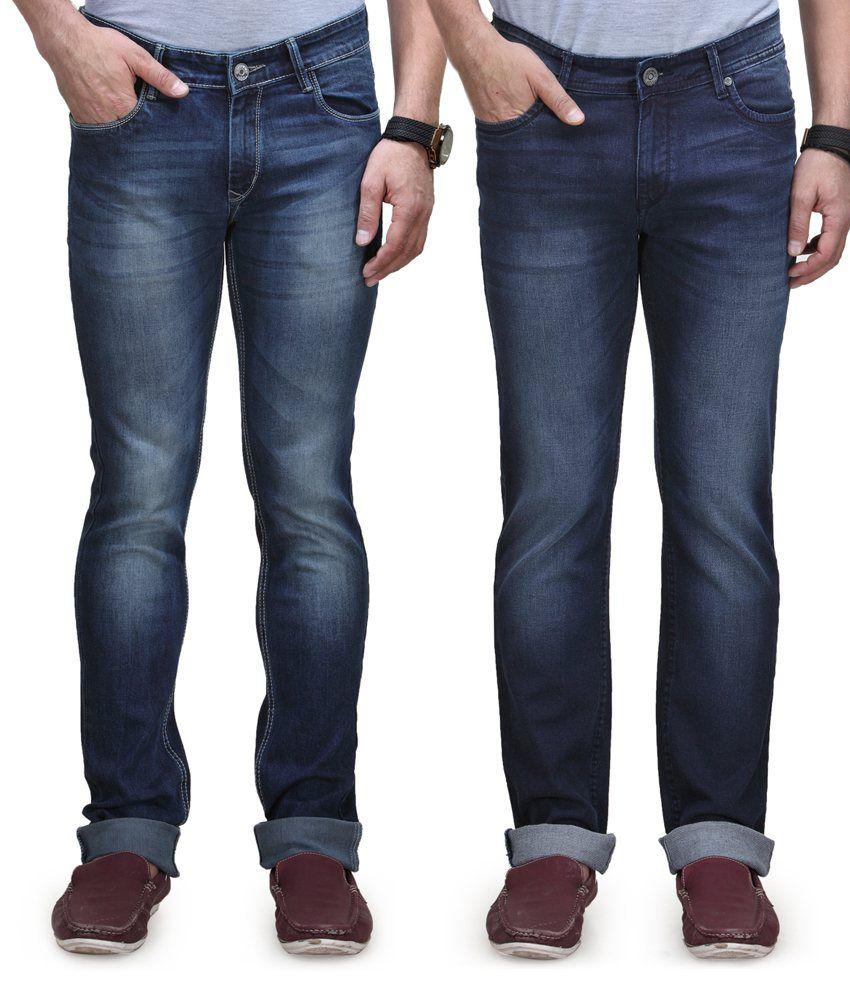 Vintage Blue Jeanswear Cotton Straight Fit Jeans