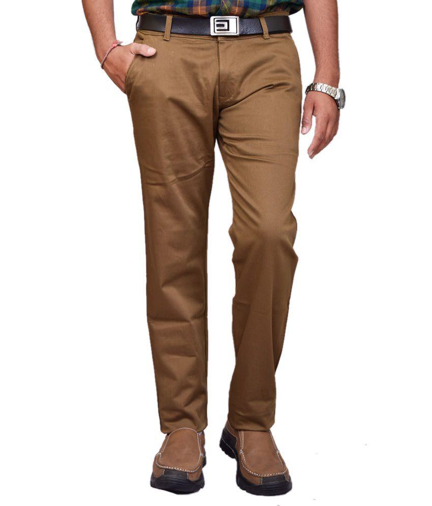 British Terminal Khaki Cotton Lycra Chinos Casual Trouser
