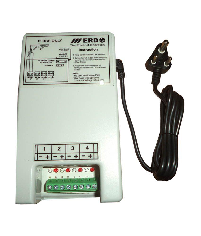 ERD CCTV Power Supply For 4 Chennel