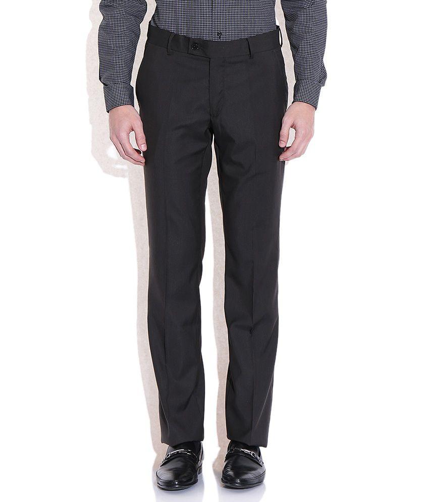 Arrow Gray Slim Fit Formal Trousers