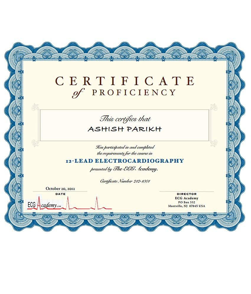 ECG Academy Level 1 Course With Certificate (15 Section