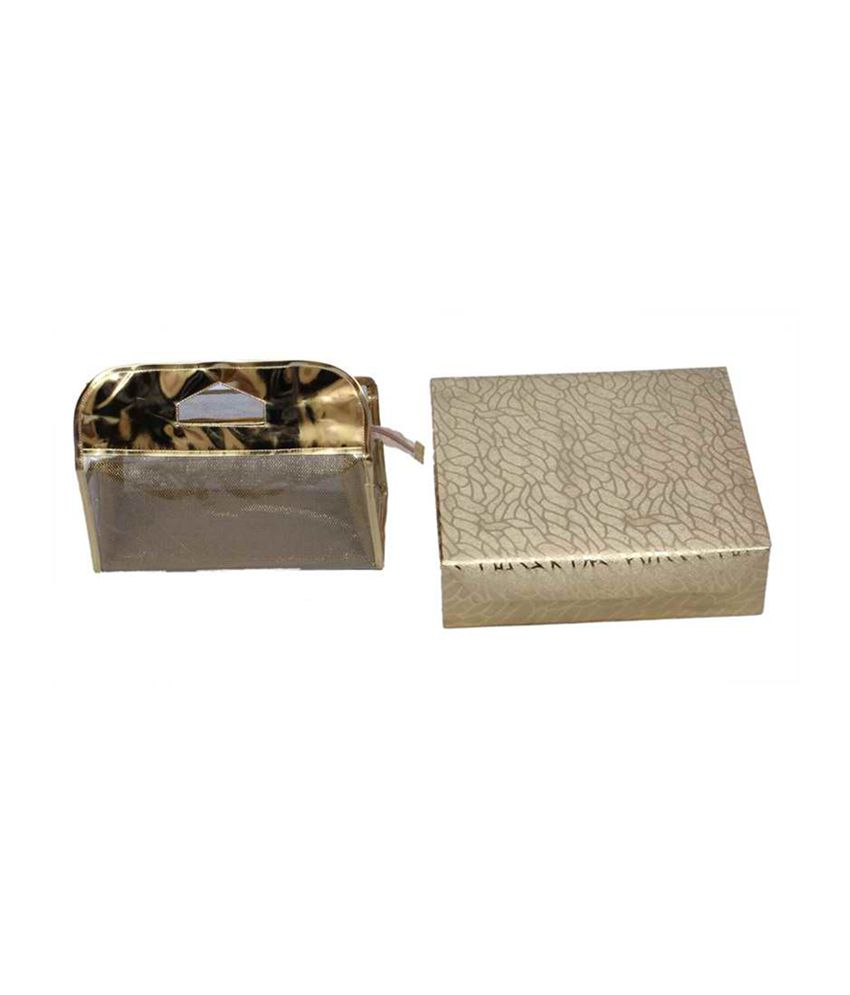 Kuber Industries Golden Bangle Box 4 Rod & Vanity Box - Combo Of 2