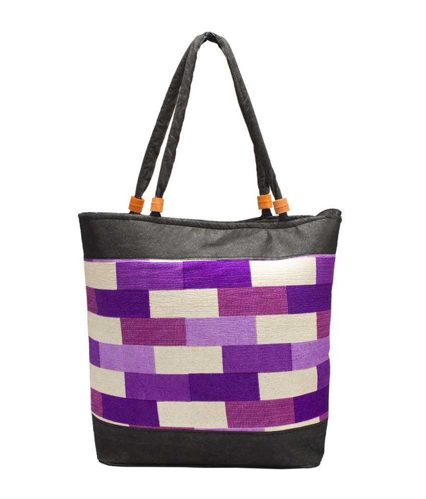 La Flora Purple Shoulder Bags